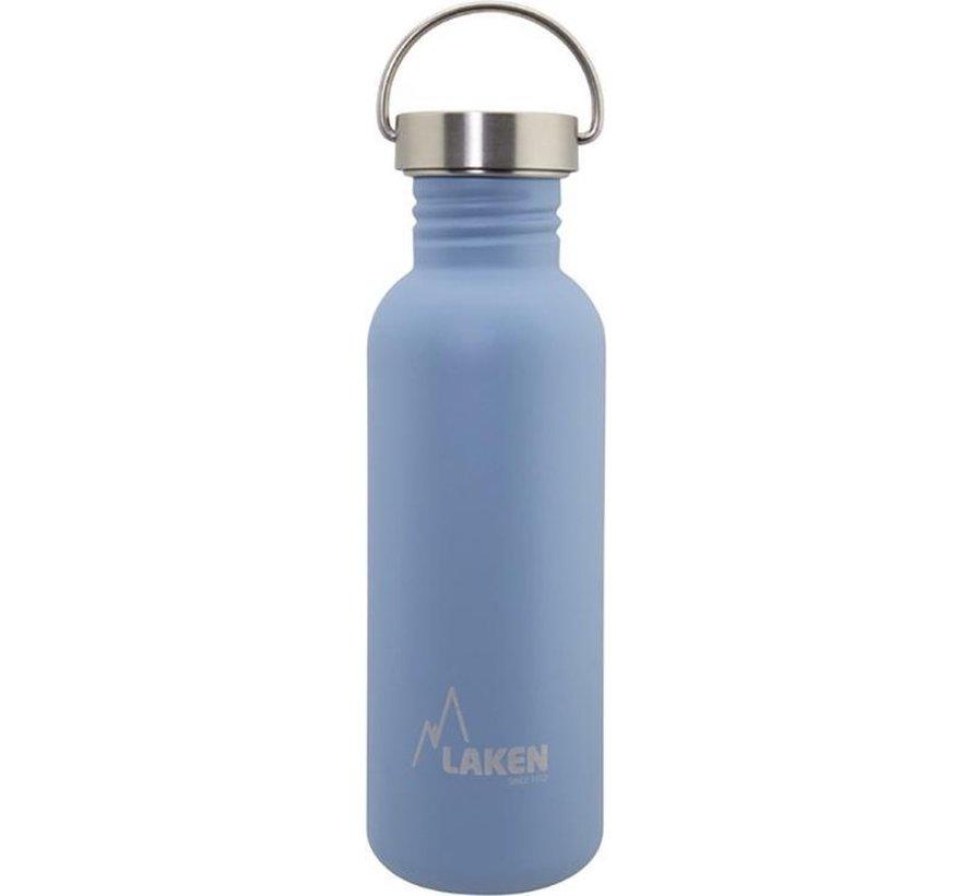RVS fles Basic Steel Bottle 750ml S/S Cap - Blauw