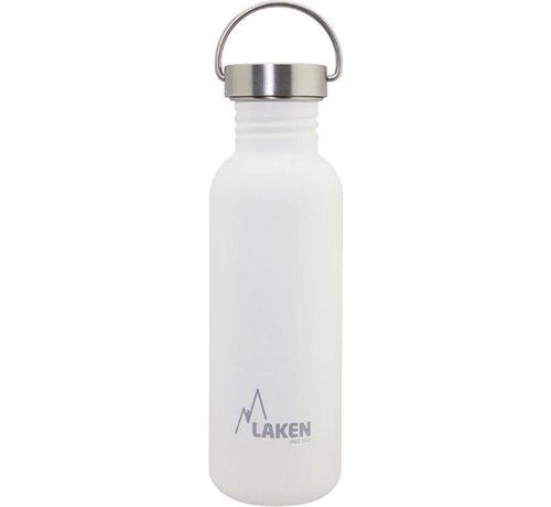 Laken RVS fles Basic Steel Bottle 750ml S/S Cap - Wit