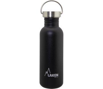 Laken RVS fles Basic Steel Bottle 750ml S/S Cap - Zwart