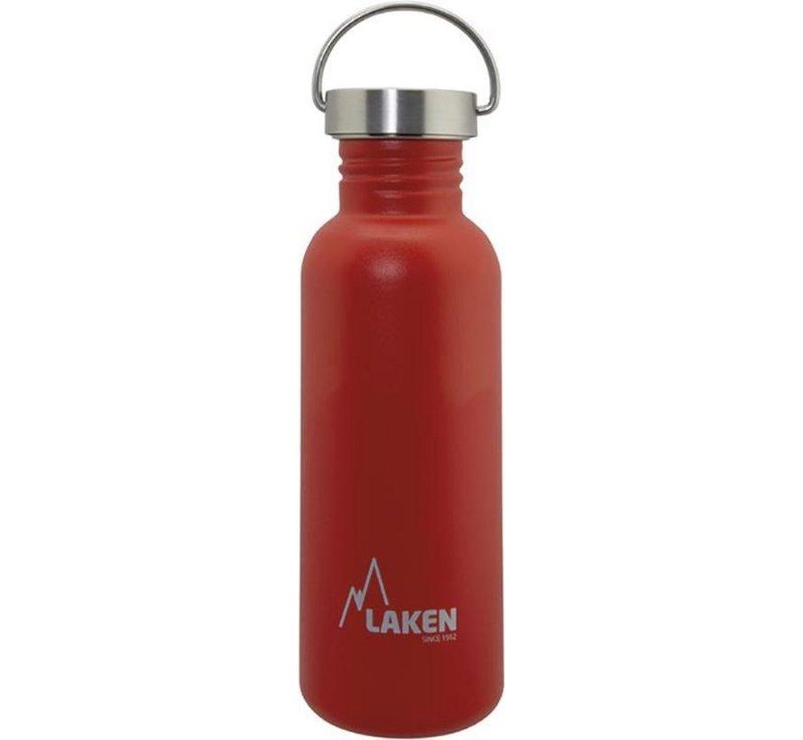 RVS fles Basic Steel Bottle 750ml S/S Cap - Rood