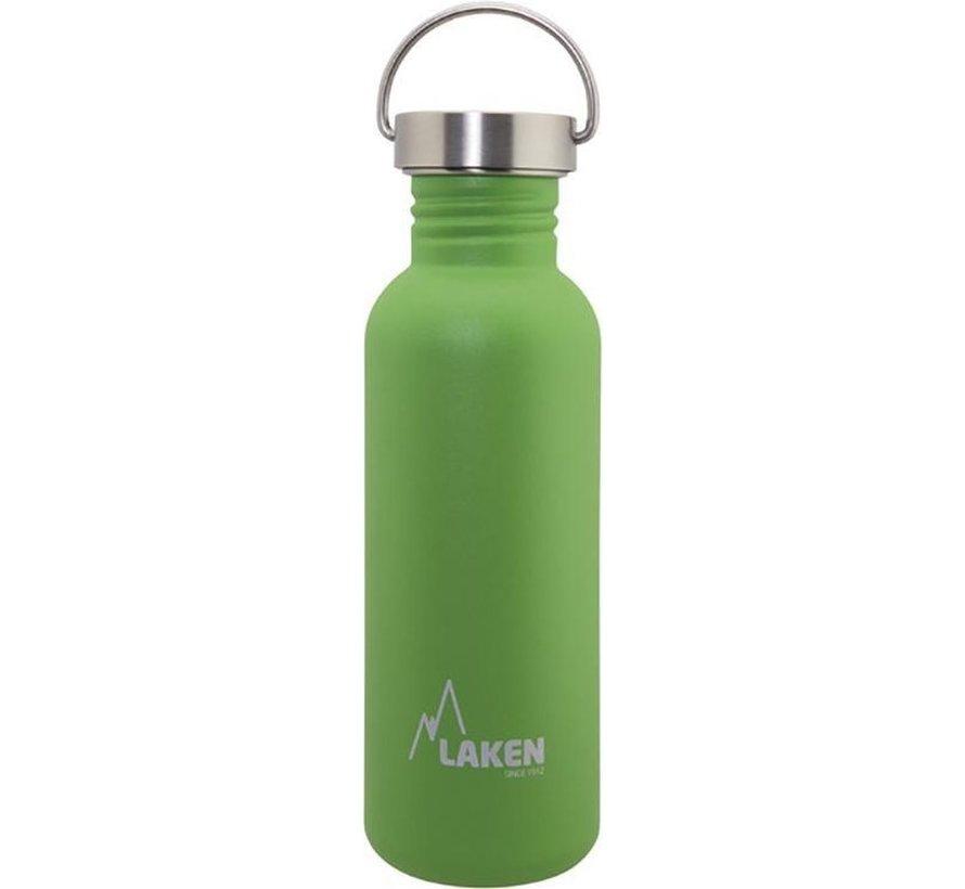 RVS fles Basic Steel Bottle 750ml S/S Cap - Groen