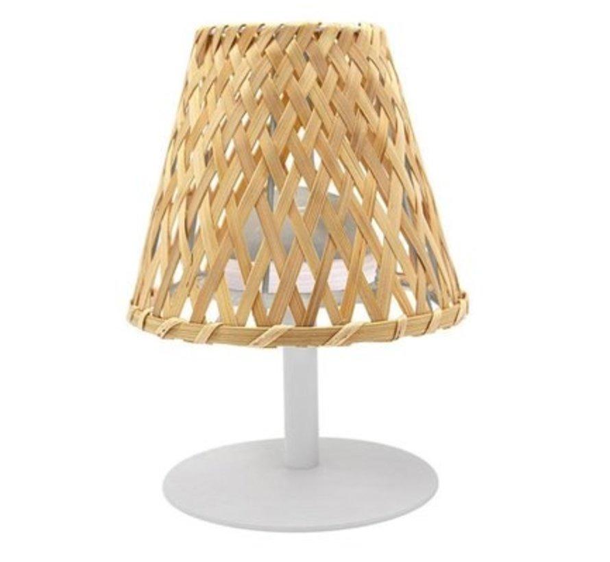 Lumisky Ibiza  LED tafellamp bamboekap