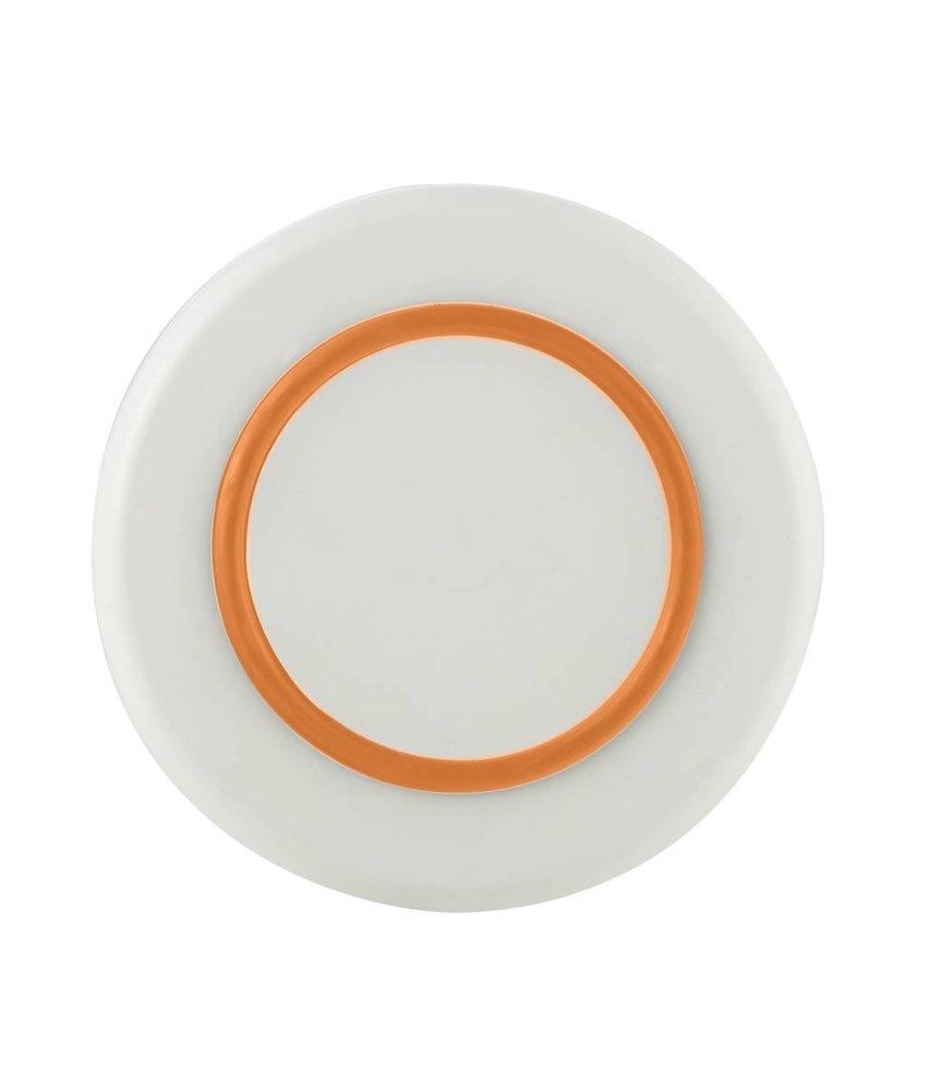 Sorona Palm - Klein Design Bord ( 21 cm ) Onbreekbaar Warm Wit met antislip rand in: Oranje