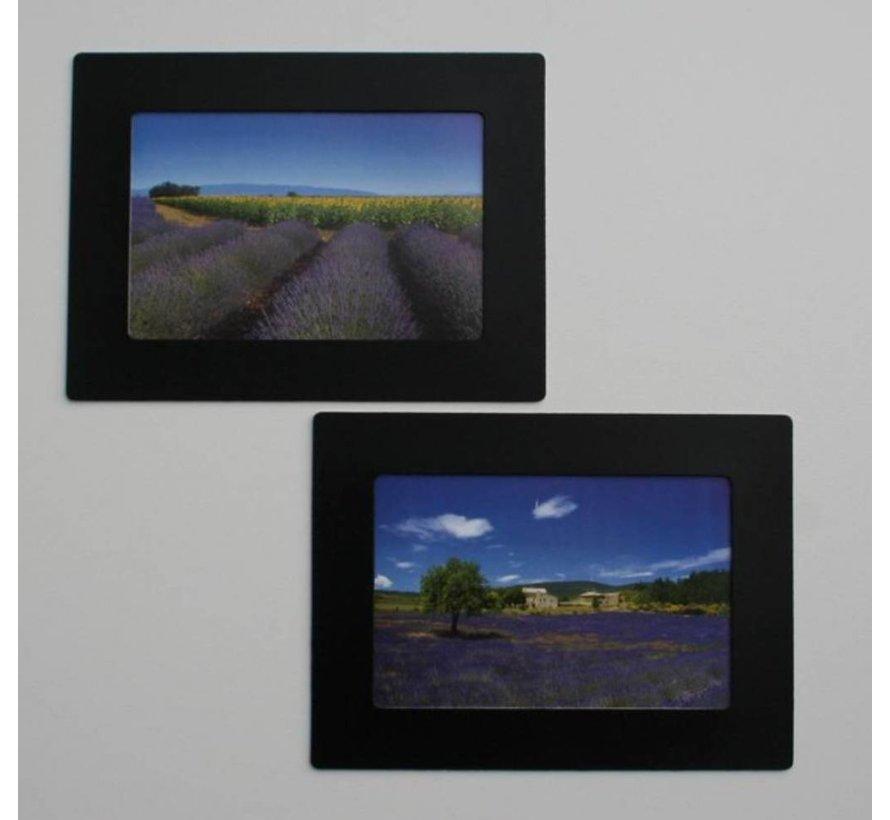Her-Plakbare Fotolijstjes  Zwart [2 Stuks]