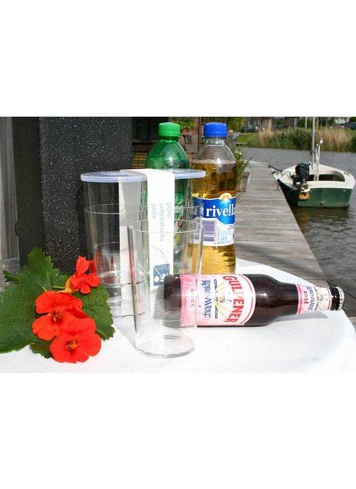 Palm Products Onbreekbaar Bier / Fris / Water Glas SET(4) Luxe Party Serie - BPA Vrij PM 421