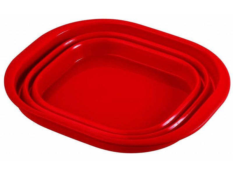 De ultieme duurzame opvouwbare siliconen afwasteil / afwasbak.   Rood
