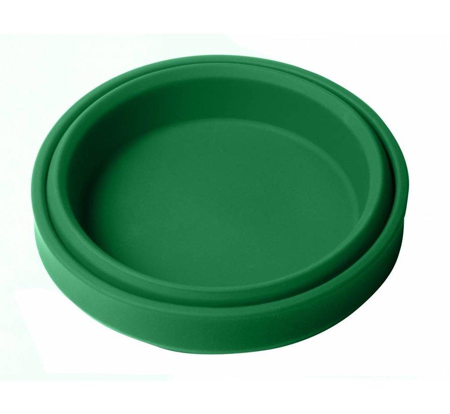 Opvouwbare schaal siliconen  Groen
