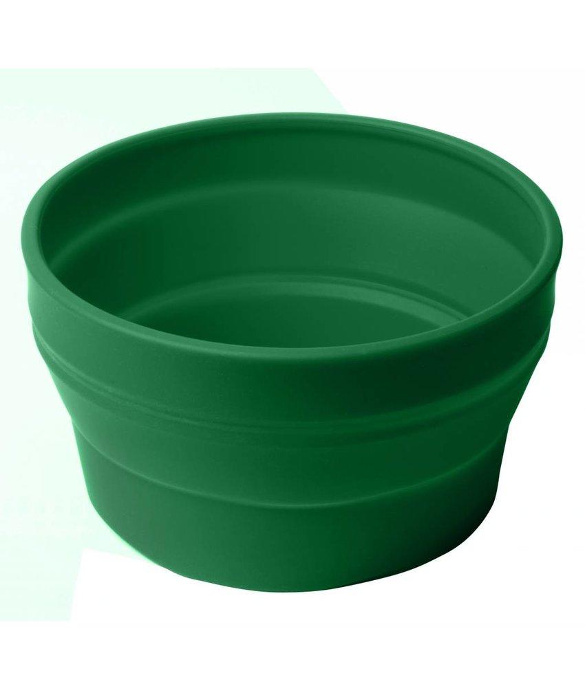Opvouwbare Duurzame Schaal / Sla Schaal ( ook te gebruiken voor uw huisdier ) GROEN  - hoge kwaliteit Siliconen