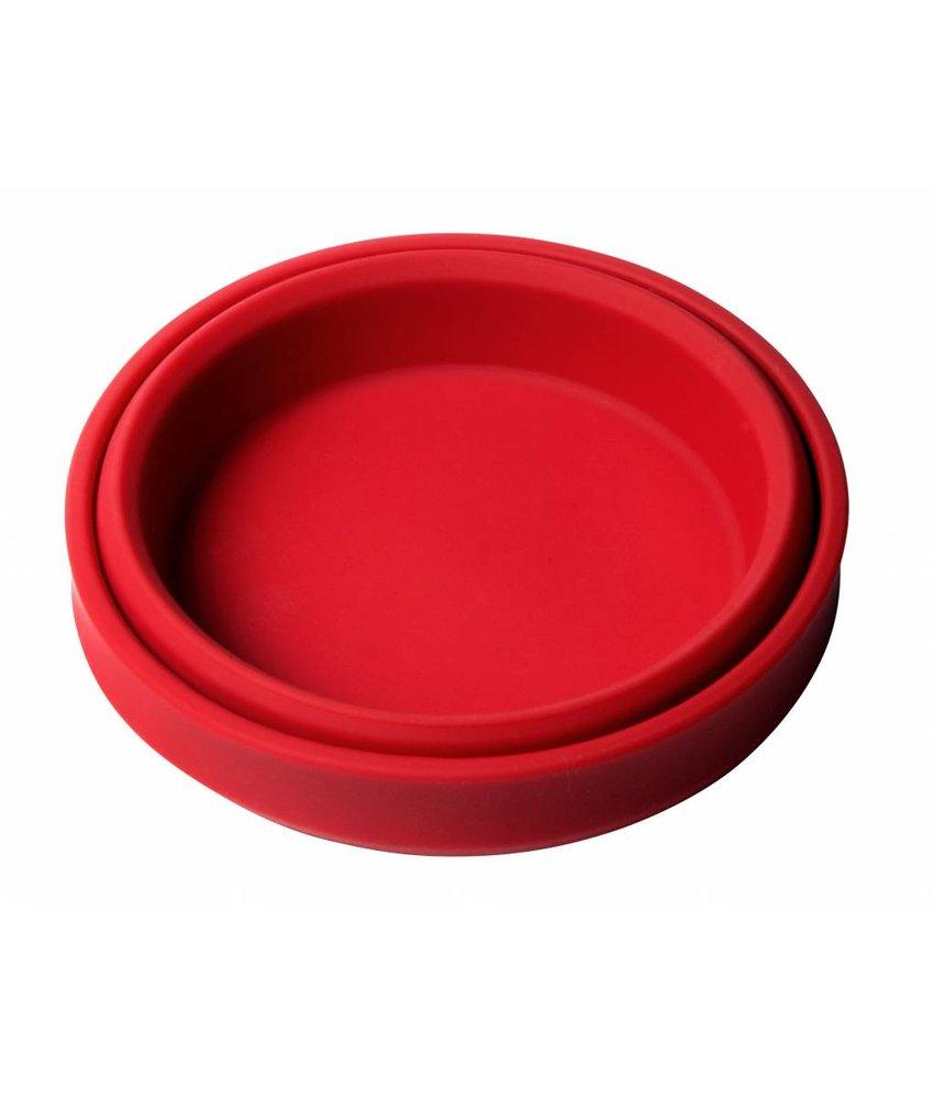 Opvouwbare Duurzame Hondendrink-Bak / Schaal / Sla Schaal  ROOD - hoge kwaliteit Siliconen