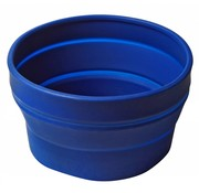 Wacky particals Opvouwbare schaal siliconen Blauw