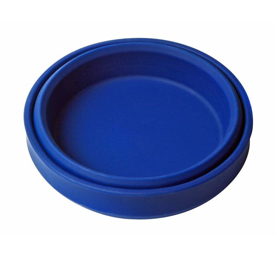 Opvouwbare schaal siliconen Blauw