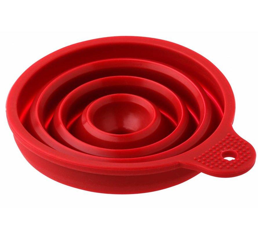 Opvouwbare Trechter siliconen - Rood