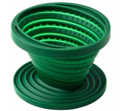 Wacky particals Duurzame opvouwbare Koffiefilter - Groen