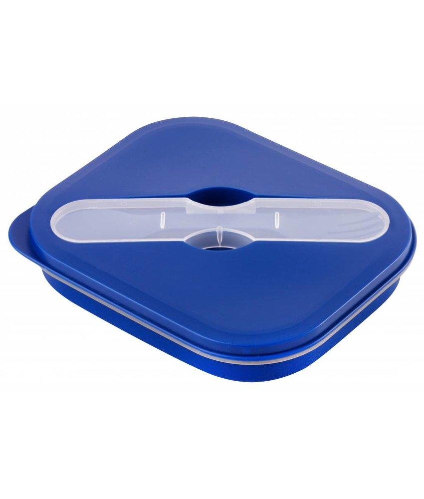 Opvouwbare Lunchbox Small Duurzaam - Navy - Blauw