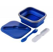 Wacky particals Opvouwbare Lunchbox Small Duurzaam Navy Blauw