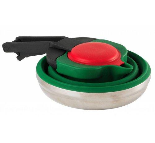 Wacky particals Opvouwbare Waterketel  siliconen | rvs [1.1L] - Groen