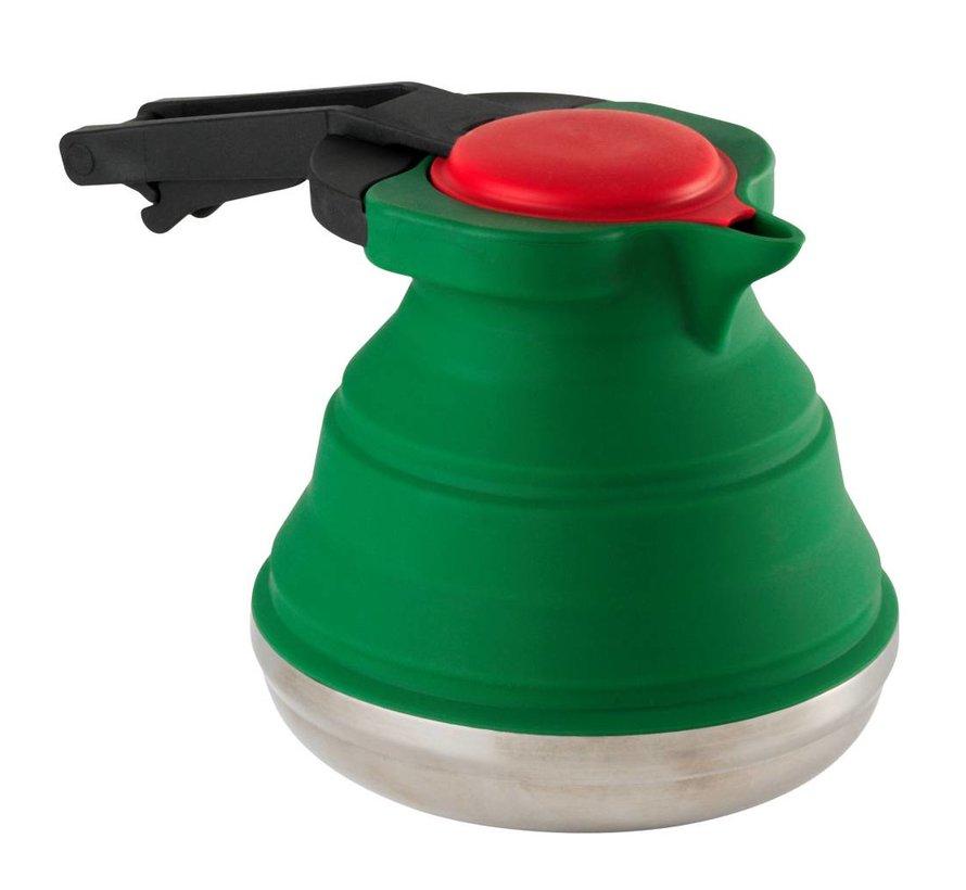 Opvouwbare Waterketel  siliconen | rvs [1.1L] - Groen