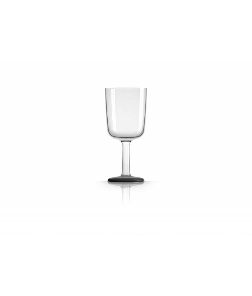 Wijnglas Onbreekbaar Marc Newson Zwarte voet antislip - TRITAN