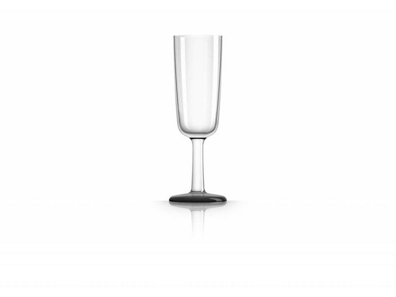 Flute onbreekbaar glas Marc Newson Zwarte voet antislip
