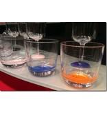 Laag Onbreekbaar Glas ( wijnglas zonder pootje ) Marc Newson Witte voet antislip - TRITAN