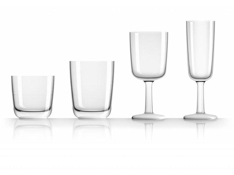 Hoog Glas- Fris / Water / Bierglas onbreekbaar Marc Newson Licht Blauw voet antislip