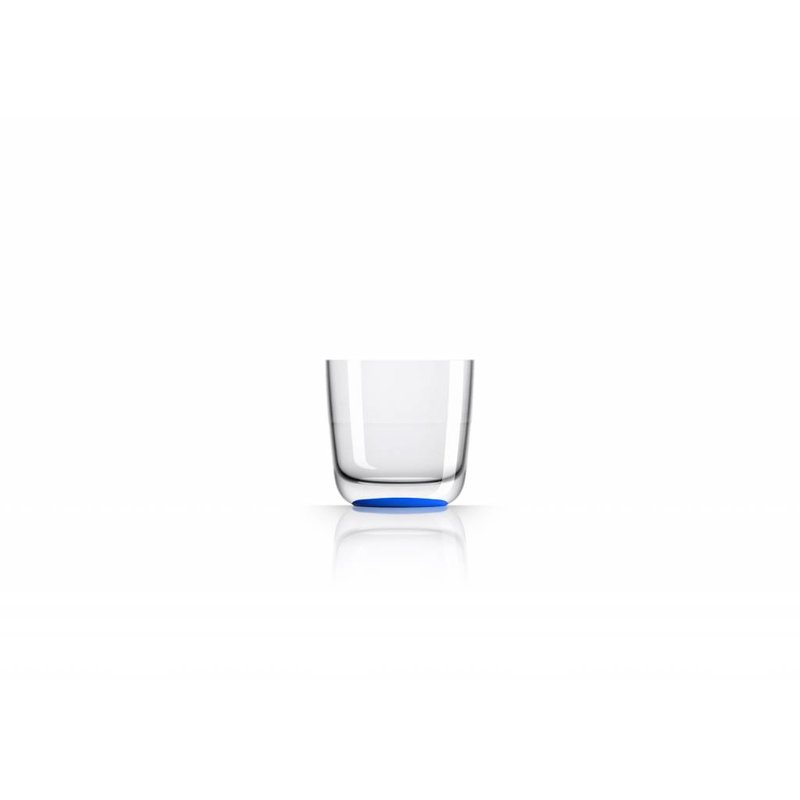 Laag Onbreekbaar Glas ( wijnglas zonder pootje ) Marc Newson Navy D. Blauwe voet antislip - TRITAN