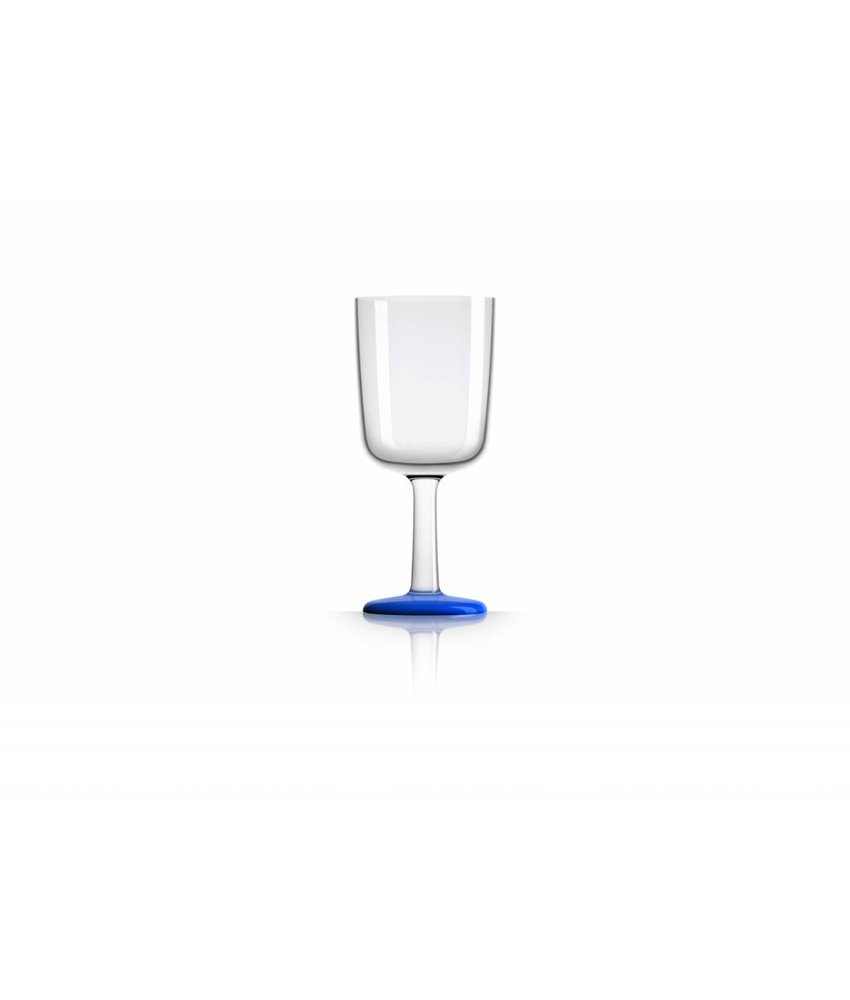 Wijnglas Onbreekbaar Marc Newson Donker Blauwe voet antislip - TRITAN