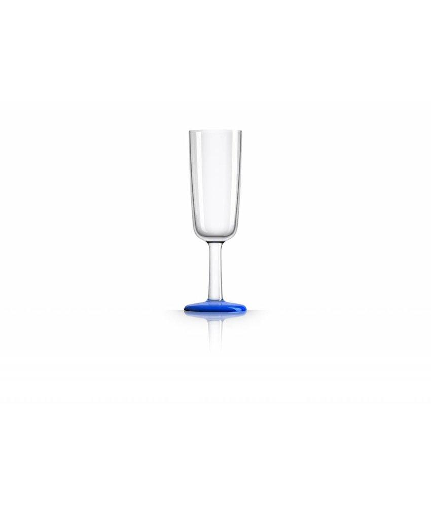 Flute glas onbreekbaar Marc Newson Navy Blauwe voet Antislip - TRITAN