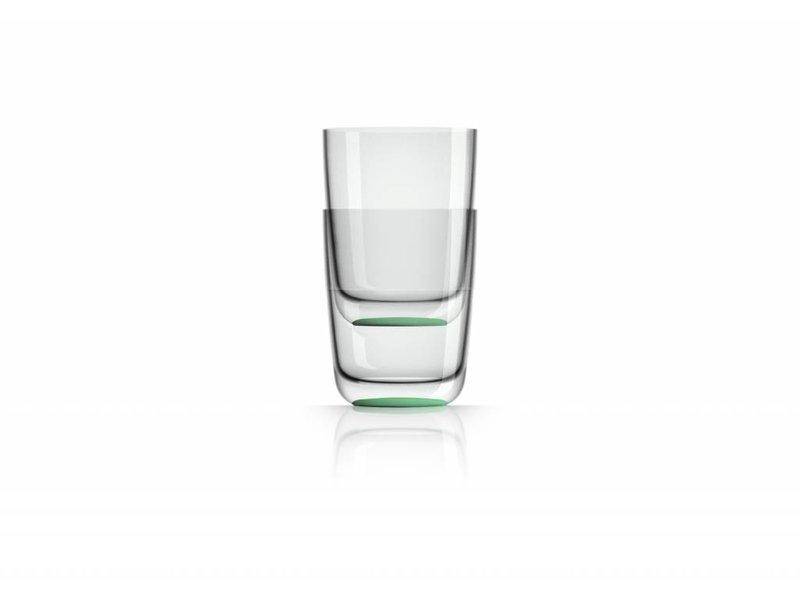 Hoog Glas- Fris / Water / Bierglas onbreekbaar Marc Newson Groene Glow in the Dark voet antislip