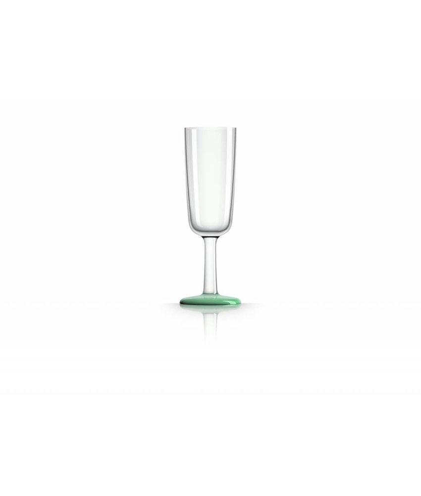 Flute glas onbreekbaar Marc Newson Groene Glow in the Dark voet Antislip TRITAN