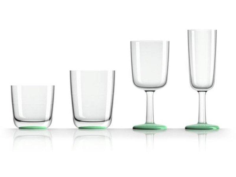 Champagne glas onbreekbaar Marc Newson Groene Glow in the Dark voet Antislip