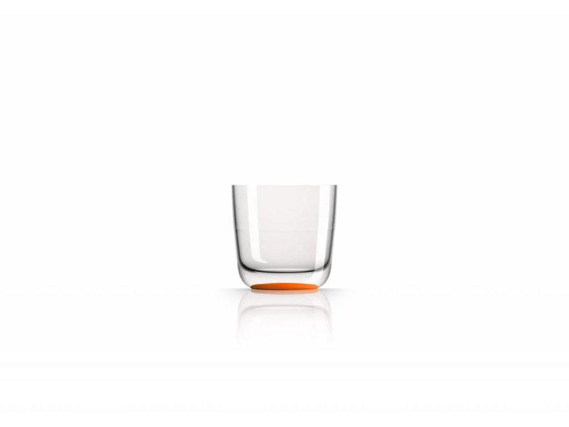 Laag Onbreekbaar Glas ( wijnglas zonder pootje ) Marc Newson Oranje voet antislip - TRITAN
