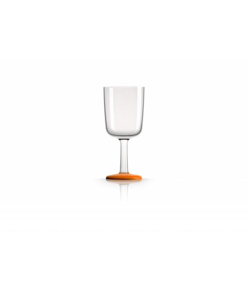 Wijnglas Onbreekbaar Marc Newson Oranje voet antislip - TRITAN