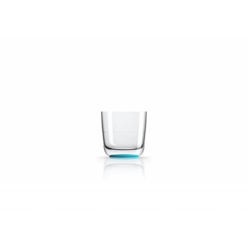 Laag Onbreekbaar Glas ( wijnglas zonder pootje ) Marc Newson Licht Blauwe voet antislip - TRITAN
