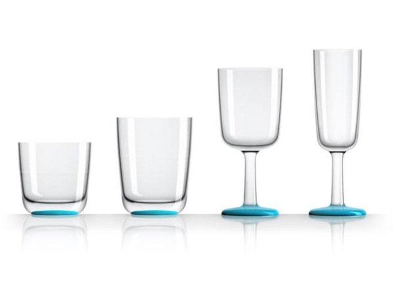 Wijnglas Onbreekbaar Marc Newson Licht Blauwe voet antislip - TRITAN