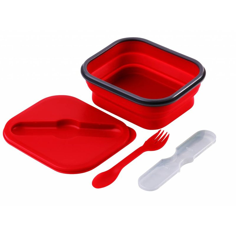 Opvouwbare Lunchbox Small Duurzaam Rood
