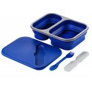 Wacky particals Opvouwbare Lunchbox Large Duurzaam Navy Blauw