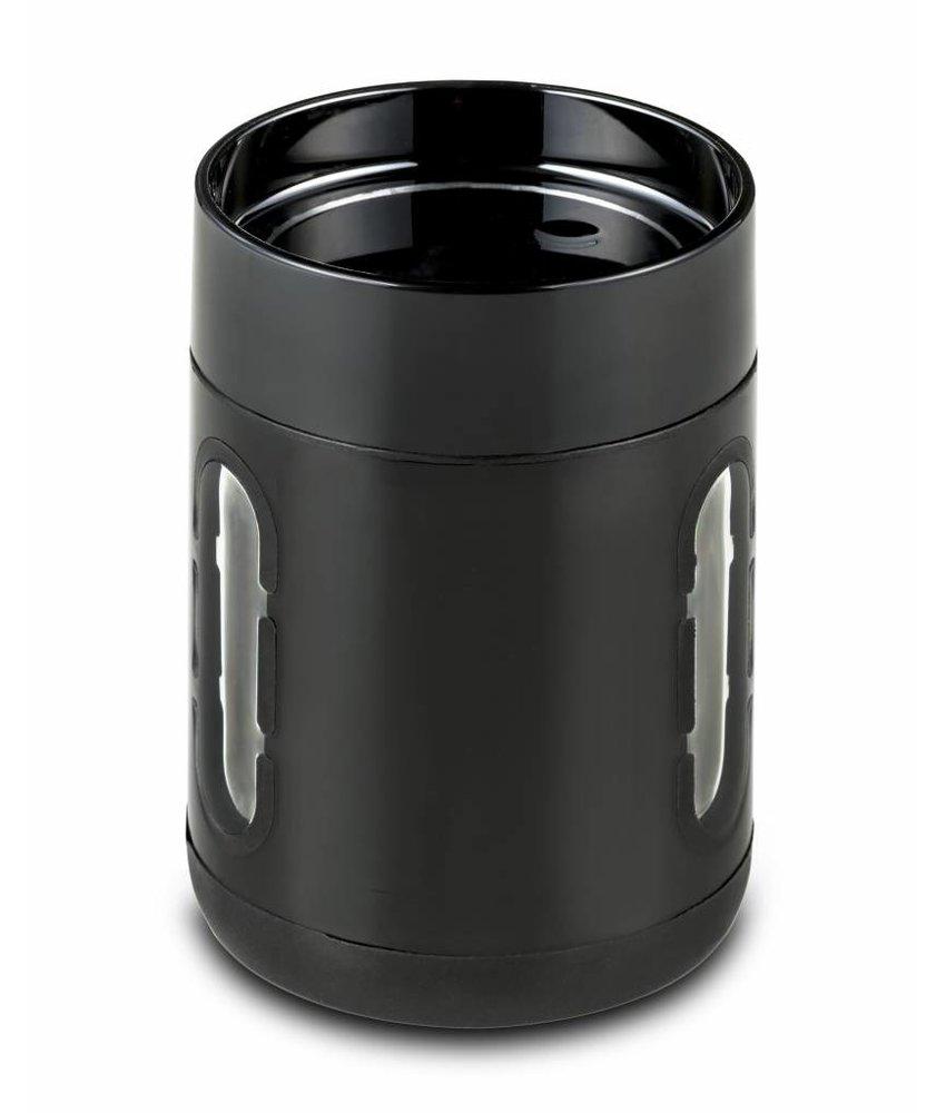 Koffie Mok - Koffie beker - Koffie beker to go -  Antislip bodem - Kijkvensters - Kleur:  ZWART