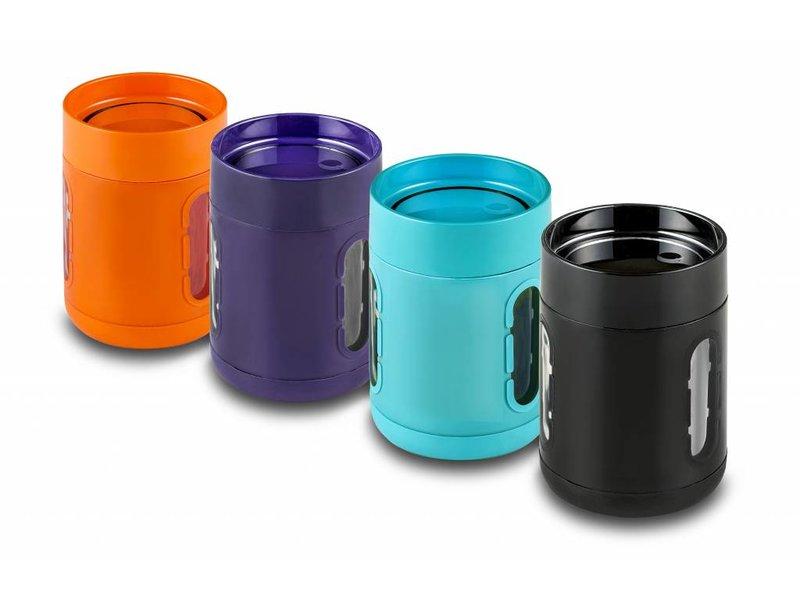 Aktie 2 stuks Koffie Mok on the go / Koffie beker to go Antislip bodem - Met Kijkvensters - Keuze uit 4 kleuren