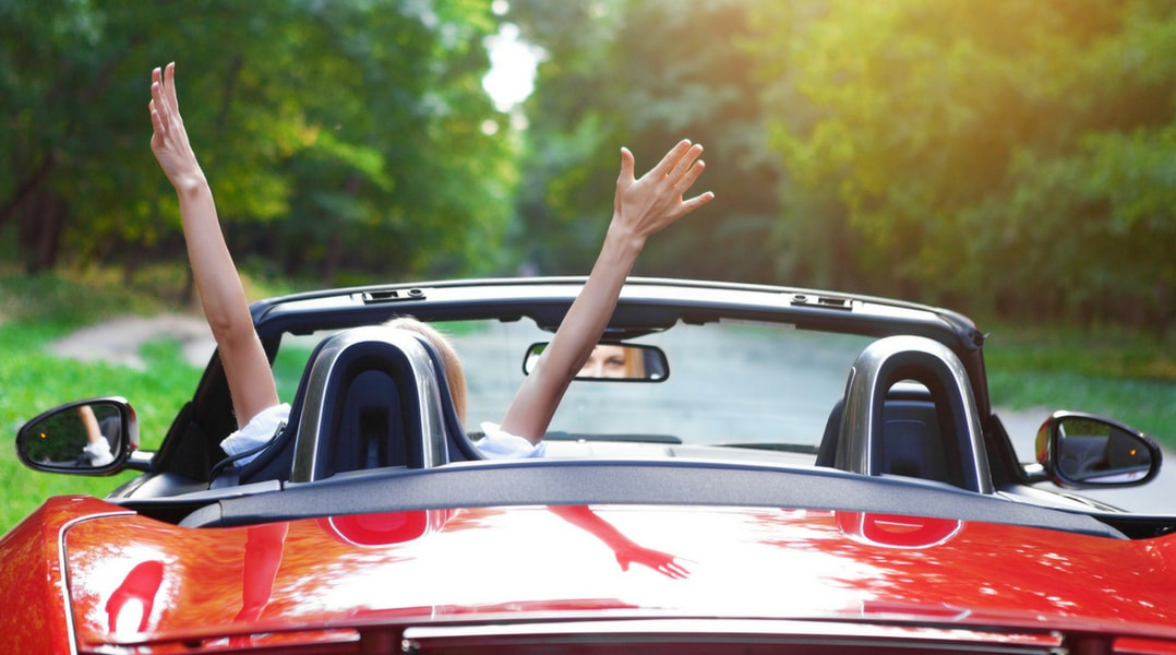 Rijden in een cabrio