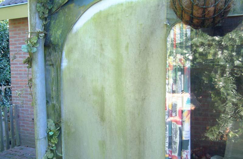 groene aanslag algen tentdoek