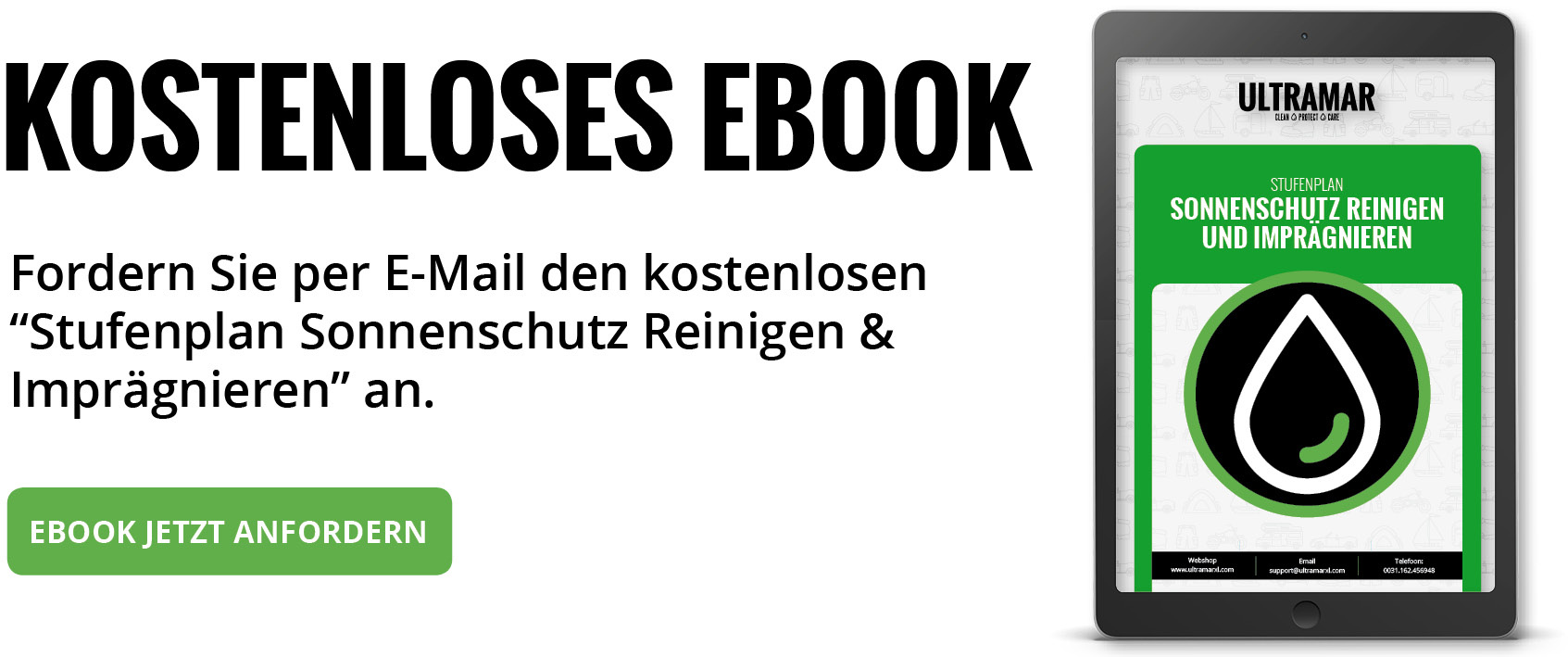 Ebook: Stufenplan Markise Reinigen & Coaten