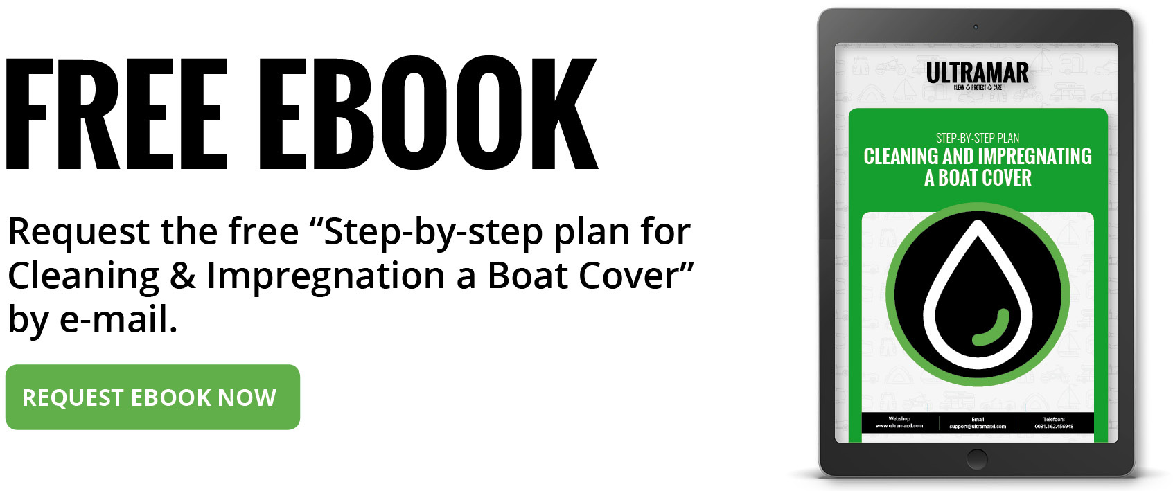 Step-by-step planCleaning and impregnating a boat cover: