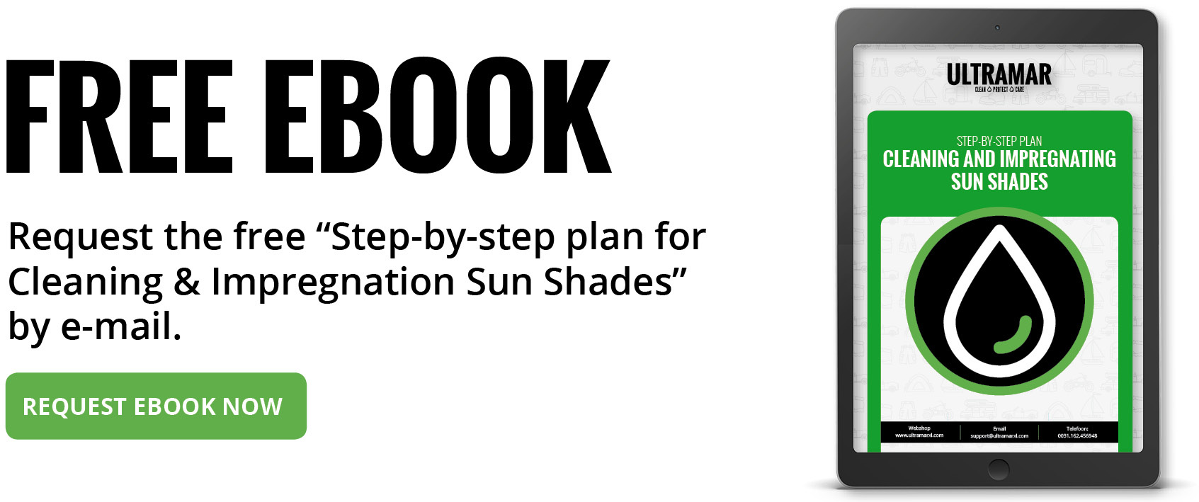 Step-by-step plan Sun Shade Cleaning and Impregnation: