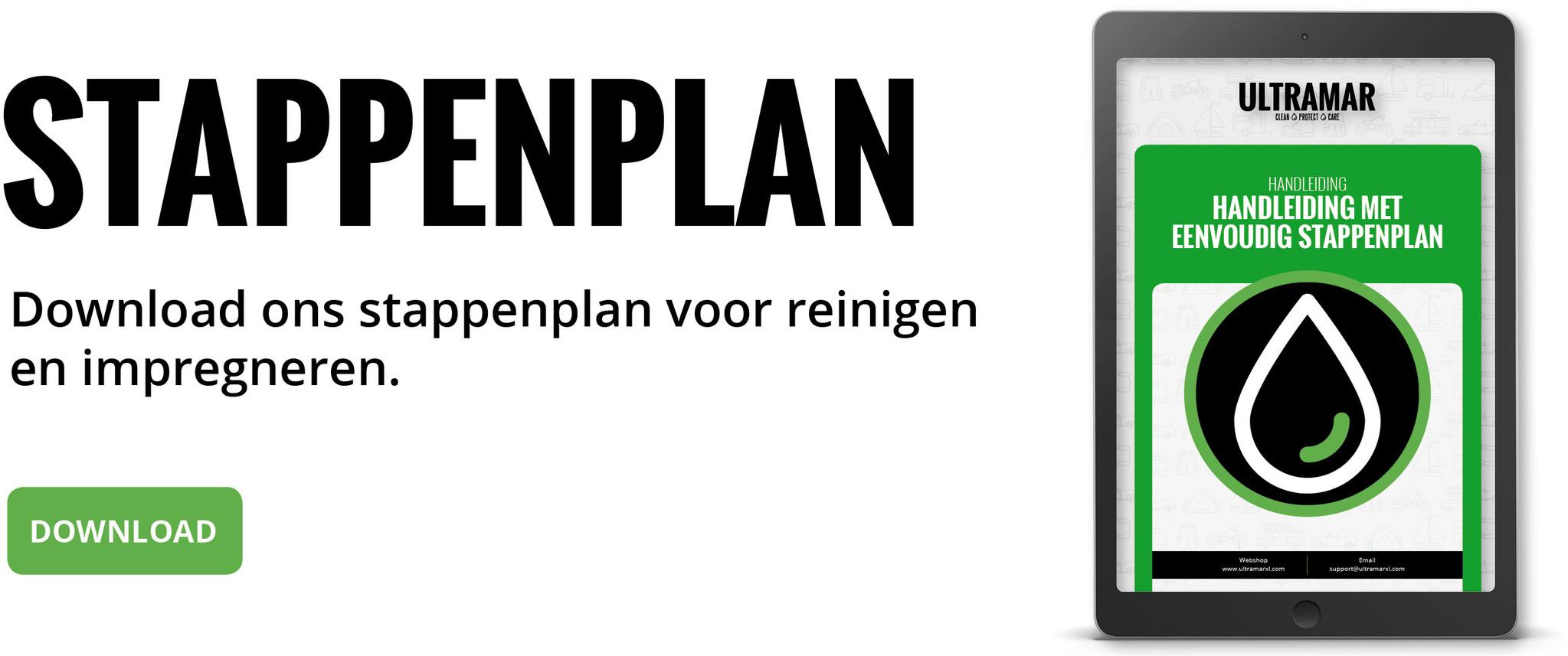 Download ons stappenplan voor reinigen  en impregneren.