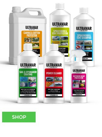 Ultramar® Keep your Sail, Boat Cover, Tent, Awning Clean and perfectly Waterproof!
