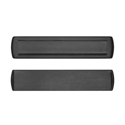 Briefplaat en tochtklep Curve Plus zwart