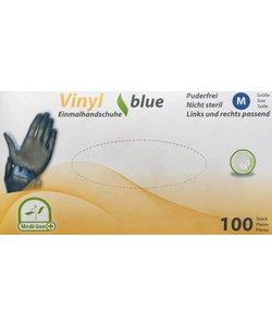 Blauwe vinyl Large handschoenen SuperFit