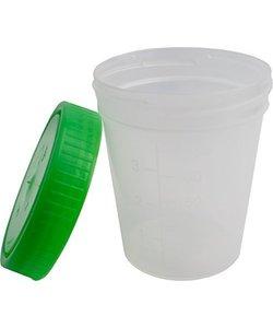 Urinebekers met schroefdeksel Groen 125 ml - 10st
