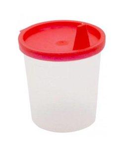 Urinebekers met snap-on deksel en tuit Rood 125 ml - 20st